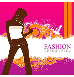 fashion women model vector image