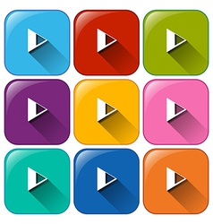 Play button icons vector