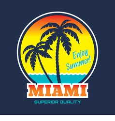 Miami - vintage badge vector