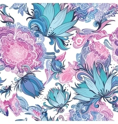 Elegant romantic floral pattern vector