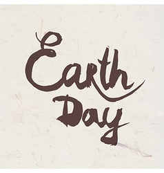 Lettering earth day vector