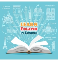 Abroad language school vector
