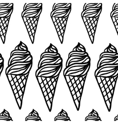 Perfect seamless pattern with ice cream cones vector