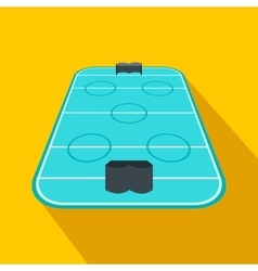 Ice hockey rink flat icon vector