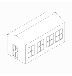 Long building icon isometric 3d style vector