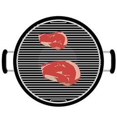 Barbecue grill top view vector