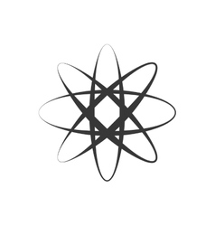 Atom icon Science and chemistry design vector image