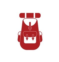 Backpack icon isolated sign symbol vector