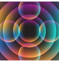 Abstract circle vibrant background vector image