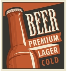 Beer in retro style vector