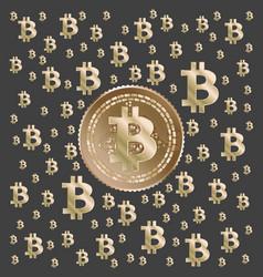Bitcoin gold pattern vector