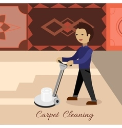 Carpet cleaning concept in flat design vector