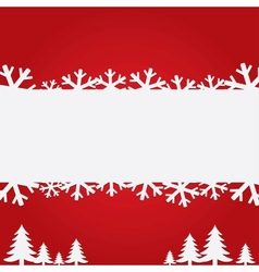 Christmas background with snowflakes and trees vector image vector image