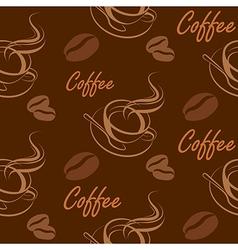 coffee seamless2 vector image vector image