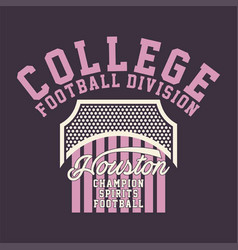 college football division vector image vector image