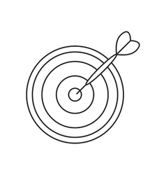 Darts line icon vector image