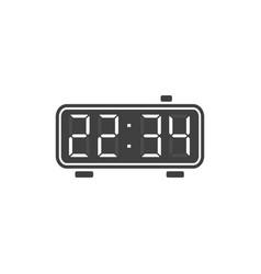 digital alarm clock icon vector image vector image