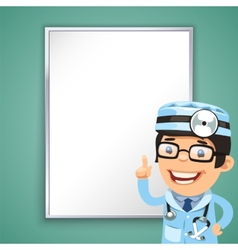 Doctor Points on the Board vector image vector image