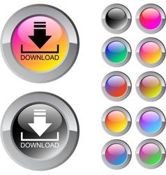 Download multicolor round button vector
