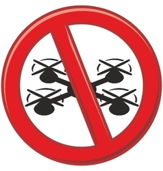 Drones are prohibited vector image vector image