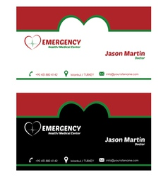 Emergency business card vector image