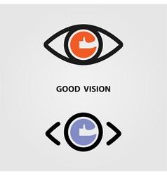 Eye icon good eye icon art eye icon web vector