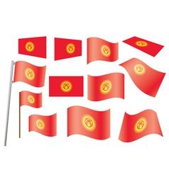 flag of Kyrgyzstan vector image vector image
