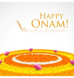 Flower rangoli for onam vector