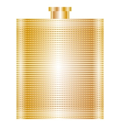Gold flask vector