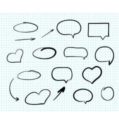 Hand-drawn doodle scribble web design elements vector image