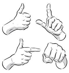 hand symbols vector image