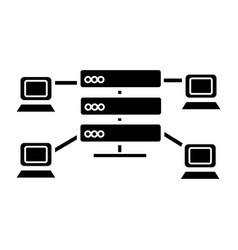 hosting - network servers icon vector image