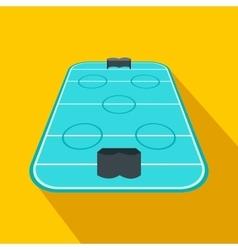Ice hockey rink flat icon vector image vector image