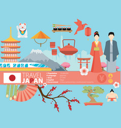 Japan background design on japanese theme vector