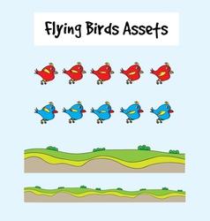 Love birds flying vector