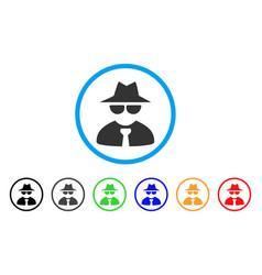 Mafia boss rounded icon vector