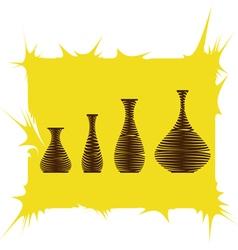Monochrome icon set with amphora vector