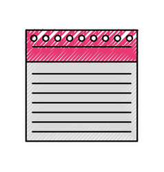 Notebook sheet isolated icon vector