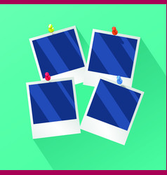 photo frames in flat style vector image