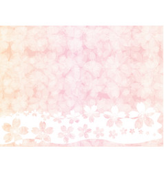 Pink blossom vintage pastel wallpaper background vector