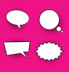 Pop art colored speech bubbles vector