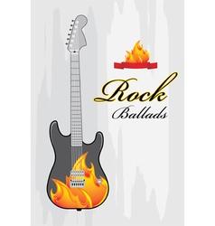 Rock ballads vector image