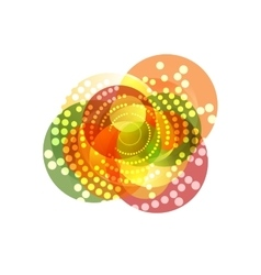 Shiny sparkling graphic design with circles vector image vector image