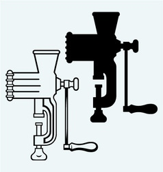 The old manual meat grinder vector image vector image