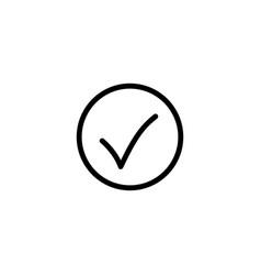 thin line ok icon vector image