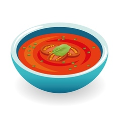 tomato soup vector image vector image