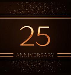 Twenty five years anniversary celebration logotype vector