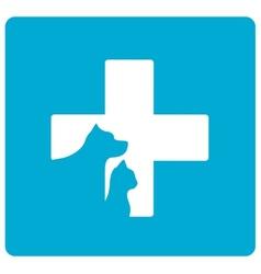 veterinarian symbol with pet vector image vector image