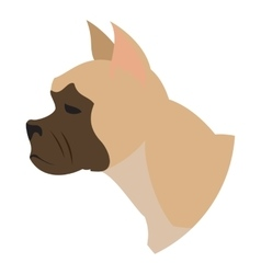 Dog head french bulldog vector