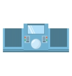 Tape recorder mp3 music home appliance vector